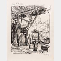 Albert Edward Sterner (American, 1863-1946)      The Mussel Openers, Newport