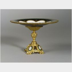French Enamel and Ormolu Mounted Tazza