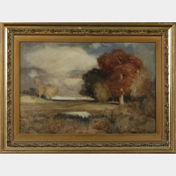 Continental School, 20th Century      Autumn Landscape with Rolling Hills.