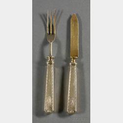 Whiting Manufacturing Co. Gold-washed Sterling Fruit Flatware Set for Twelve