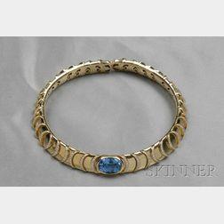 18kt Gold, Blue Topaz, and Diamond Necklace, Marina B.