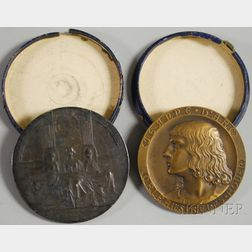 Two Commemorative Medallions