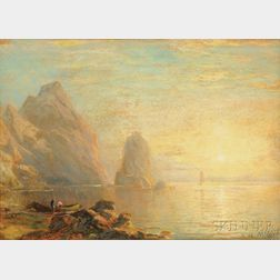 George Herbert McCord (American, 1848-1909)      Sunrise Over the Bay