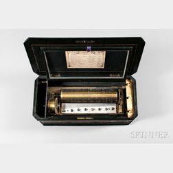Nicole Freres Mandoline Cylinder Musical Box