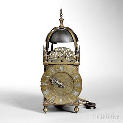 Joseph Jackman Brass Lantern Clock