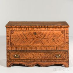Paint-decorated Pine Chest over Drawer