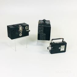 Graflex No. 3A and Two Kodak Cameras