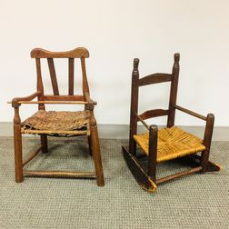 Two Early Child's Chairs