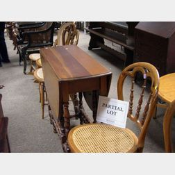 Set of Four Late Victorian Side Chairs, a William & Mary Drop-leaf Gate-leg Table, and a Rocker.