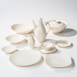 Eva Zeisel (Hungarian/American, 1906-2011) for Castleton China Seventy-piece Museum Dinner Service