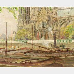 Caleb Arnold Slade (American, 1882-1961)    Notre Dame