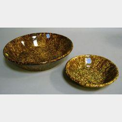 Two Bennington Glazed Stoneware Shallow Bowls.