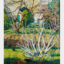 Marie (Bruner) Haines Burt (American, 1881-1979)      Fig Tree in the Garden