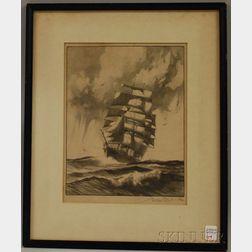 Gordon Hope Grant (American, 1875-1962)      Clipper Ship.