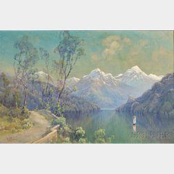Hezekiah Anthony Dyer (American, 1872-1943)      Swiss Landscape