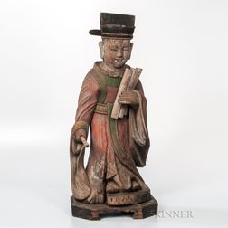 Painted Wood Figure of the Judge of Hell