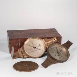 Julius Hanks Surveyor's Plain and Vernier Compasses