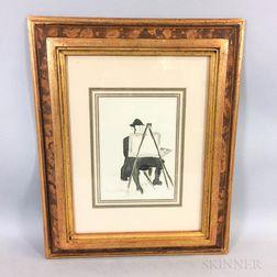 Jacques Villon (French, 1875-1963)      Peintre à son chevalet
