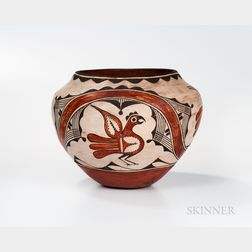Southwest Polychrome Pottery Olla