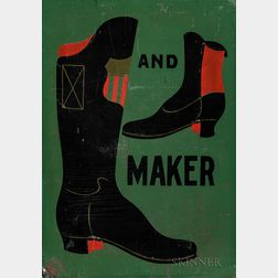 Two-sided Painted Metal Boot and Shoemaker Trade Sign