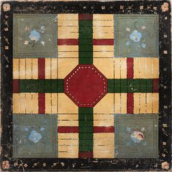 Large Paint-decorated Parcheesi Game Board