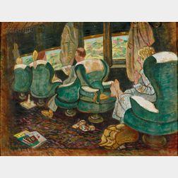 Daphne French Dunbar (American, b. 1883)      The Passenger Car