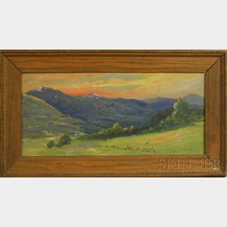 C. Myron Clark (American, 1858-1925)      Sunset Along the Mountains in Summer