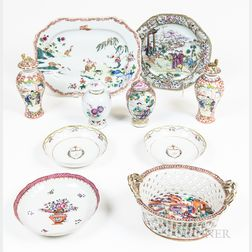 Ten Pieces of Chinese Export Porcelain