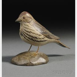 Jess Blackstone Carved and Painted Miniature Song Sparrow Figure