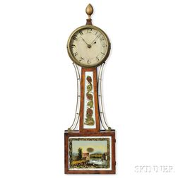 Mahogany and Mahogany Veneer Patent Timepiece