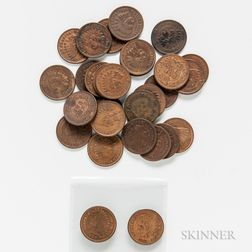 Thirty-one Indian Head Cents