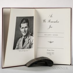 Kennedy, John Fitzgerald (1917-1963) As We Remember Joe  , Signed by Robert Kennedy.