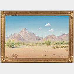 Norman Henry Yeckley (American, 1914-1994)      Desert Landscape