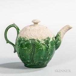 Staffordshire Cauliflower Ware Teapot