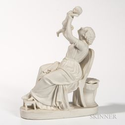 Copeland Parian Figure of a Mother and Child