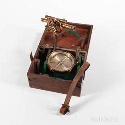 W. & L.E. Gurley Pocket Compass with Telescope Attachment