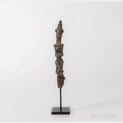 Yoruba Bronze Staff Finial