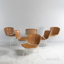 Six Harry Bertoia (American, 1915-1978) for Knoll Associates Side Chairs