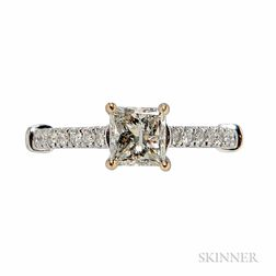 18kt White Gold and Diamond Solitaire