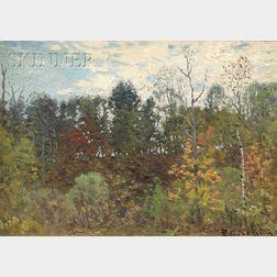 John Joseph Enneking  (American, 1841-1916)      The Summer Forest