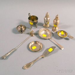 Small Group of Mostly Sterling Silver Tableware and Flatware