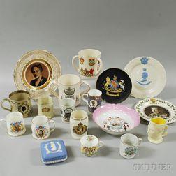 Eighteen Royal Commemorative Items