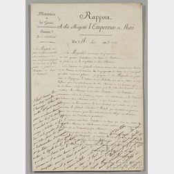 Napoleon Bonaparte (1769-1821) Endorsement Signed, 18 August 1808.