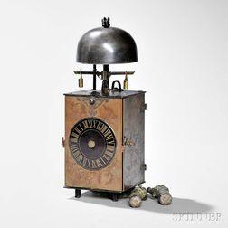 Japanese Single Foliot Kake Dokei or Lantern Clock