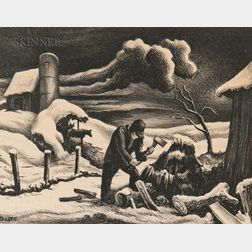 Thomas Hart Benton (American, 1889-1975)      The Woodpile