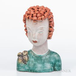 Goldscheider Ceramic Female Bust