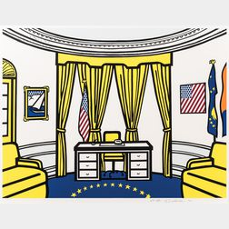 Roy Lichtenstein (American, 1923-1997)      The Oval Office