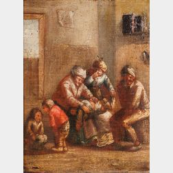 Dutch School, 17th Century      Allegory of Smell: Peasant Family in an Interior (Changing Diapers)