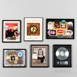 Sarah McLachlan Signed Poster and Four RIAA Certified Gold and Platinum Record Sales Awards