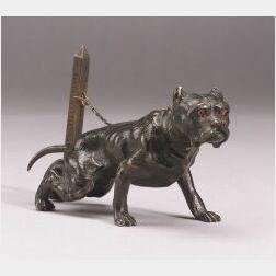 Small Bronze Figure of a Bull Dog